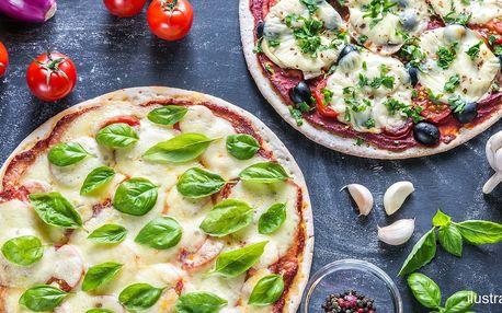 Jako z Itálie: dvě křupavé pizzy dle výběru