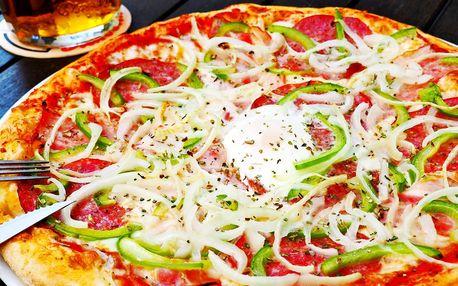 2 křupavé pizzy v Čelákovicích z pestré nabídky