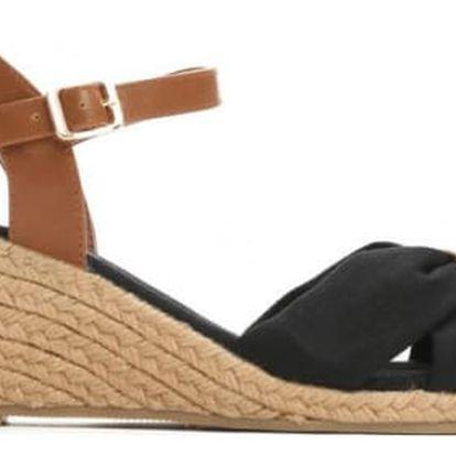 Dámské černé sandály na klínku Katie 1484
