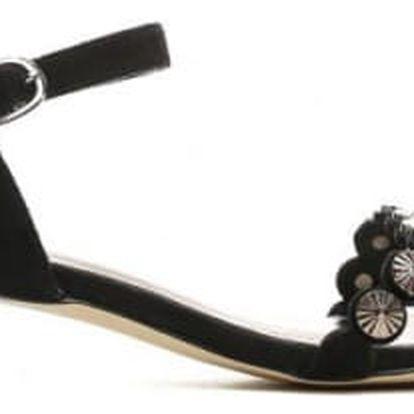 Dámské černé sandály na podpatku Nigela 9176