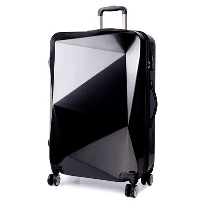 Dámský malý černý kufr na kolečkách Reise 6671