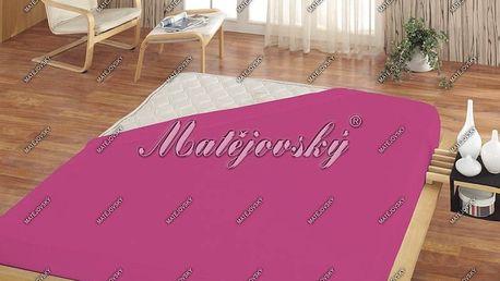 Matějovský prostěradlo froté fuchsiová
