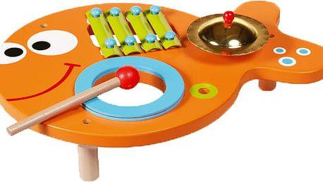 SCRATCH Hudební stolek 3v1 Rybička