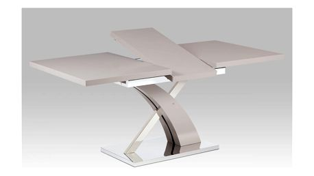 Rozkládací jídelní stůl HT-999 LAN lanýžová mat/nerez Autronic