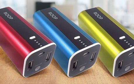 Powerbanka ROOP s kapacitou 12 000 mAh v 7 barvách
