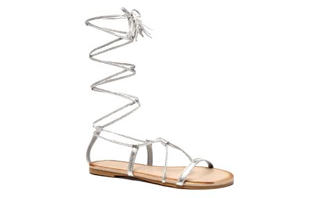 Dámské stříbrné sandály Tiara 6009