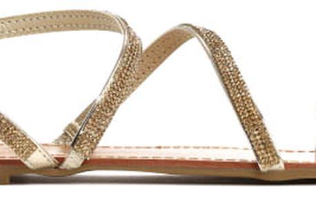 Dámské zlaté sandále Maura 6131