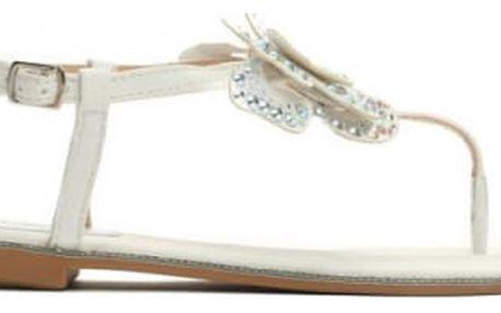 Dámské bílé sandály Sweet 9208
