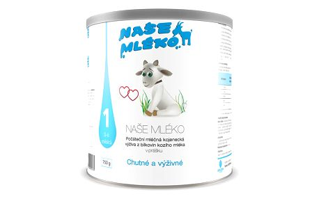 NAŠE MLÉKO 1 (0-6m) 750g - mléčná kojenecká výživa