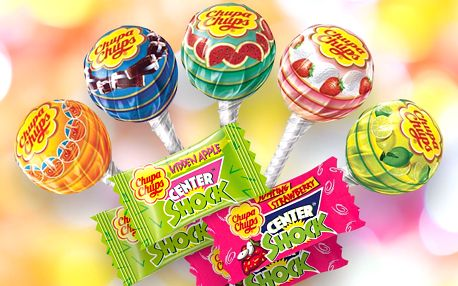 Oblíbená lízátka nebo žvýkačky Chupa Chups