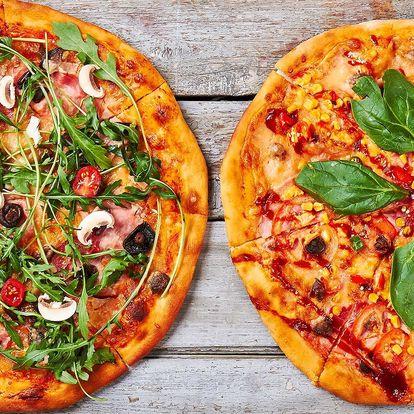 Dvě křupavé pizzy dle výběru z kamenné pece