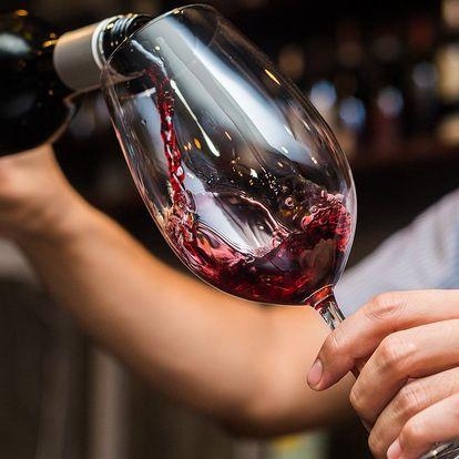 Řízená degustace vín s občerstvením pro dva