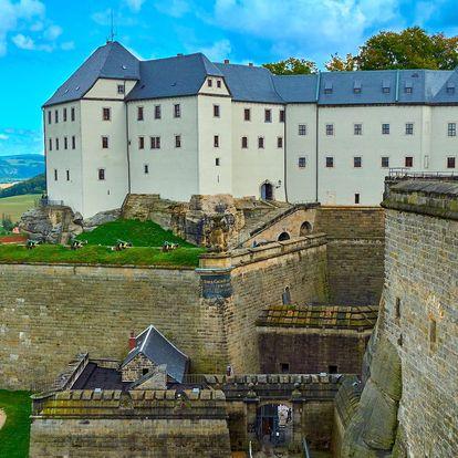 Skalní pevnost Königstein a plavba lodí po Labi