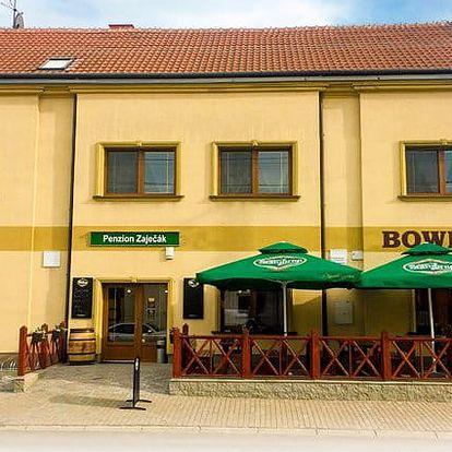 3denní pobyt pro 2 s moravským jídlem, vínem a bowlingem v penzionu Zaječák u Pálavy