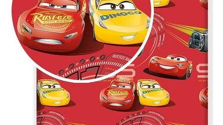 Jerry Fabrics Dětské bavlněné prostěradlo Cars red 02, 90 x 200 cm