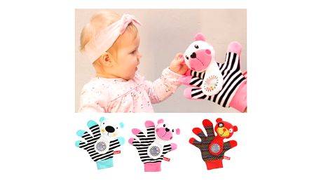Medvídkova chrastící rukavice Mom's