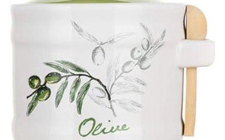 Banquet Olives Dóza keramická se lžičkou OK 60ZF1099OL