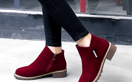 Dámské semišové boty - 4 barvy