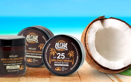 Másla s kokosovým olejem na opalování i po něm