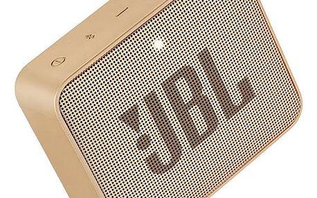 Přenosný reproduktor JBL GO 2 Champagne zlatý