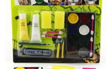 Barvy obličejové s doplňky na kartě
