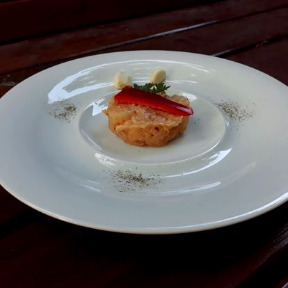 5chodové degustační menu pro dva v Restauraci Hostinec Lhotka