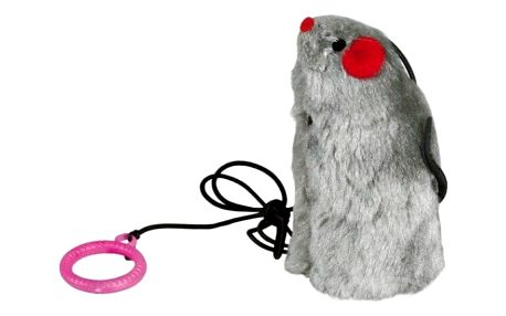 Myš na gumičce s catnipem 9cm