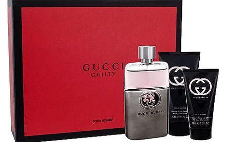 Gucci Guilty Pour Homme EDT dárková sada M - EDT 90 ml + balzám po holení 75 ml + sprchový gel 50 ml