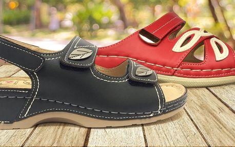 Anatomicky tvarované pantofle a sandále Koka