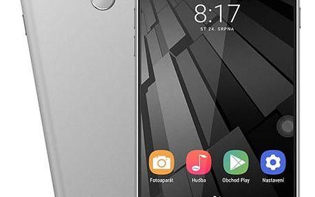 Mobilní telefon Umax VisionBook P55 LTE (UMM200P55) šedý SIM karta T-Mobile 200Kč Twist Online Internet v hodnotě 200 Kč