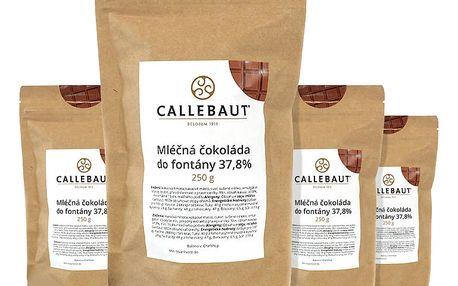 Mléčná čokoláda do fontány Callebaut 37,8% 1 kg (4 x 250 g)