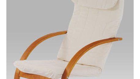 Relaxační křeslo QR-13 TR2 - třešeň/látka krémová