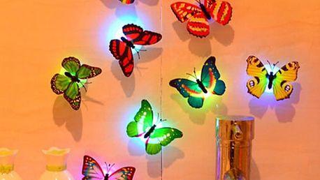 Sada svítících LED motýlků - 10 kusů