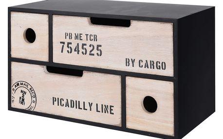 Skříňka na drobnosti CARGO - úložný box s 4 zásuvkami Home Styling Collection