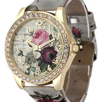 Dámské retro hodinky s růžemi - 6 barev