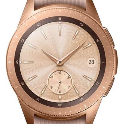Chytré hodinky Samsung Galaxy Watch 42mm vel. S růžové (SM-R810NZDAXEZ)
