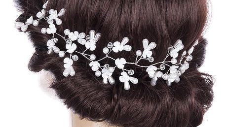 Fashion Icon Svatební ozdoba do vlasů - čelenka Wedding day větvička s perly a krystalky