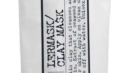 L:A BRUKET Detoxikační jílová maska na obličej 100ml, černá barva, bílá barva