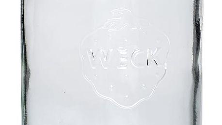 Hübsch Skleněná dóza Weck 1 L, čirá barva, sklo