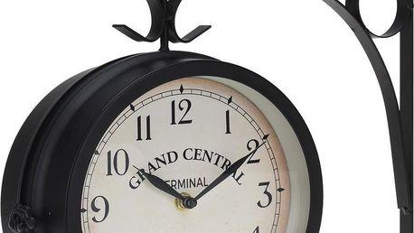 Nástěnné hodiny, kovové, 33x9x33 cm Emako