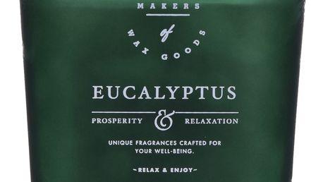 Makers of Wax Goods Vonná svíčka ve skle Eucalyptus 464g, zelená barva, sklo, vosk