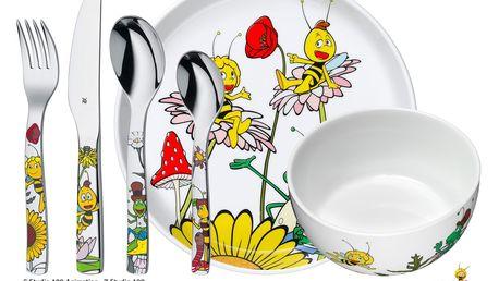 WMF Dětské nádobí Včelka Mája, dětská jídelní sada 6 ks, s příborem