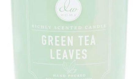 dw HOME Vonná svíčka ve skle - Zelený čaj 425gr, zelená barva, sklo
