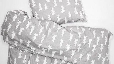 Fine Little Day Povlečení na jednolůžko Gran Grey, šedá barva, bílá barva, textil