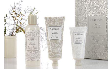MORRIS & Co. Sada kosmetiky v plechovém boxu Pure, bílá barva, stříbrná barva, krémová barva, kov, plast