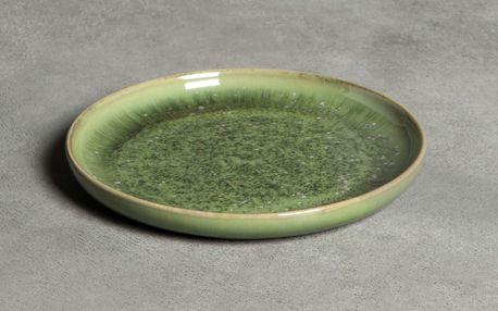 Tine K Home Dezertní talíř Dine Moss, zelená barva, keramika