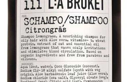 L:A BRUKET Vlasový šampón s citronovou trávou 450 ml, hnědá barva