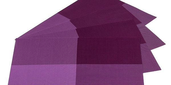 Jahu Prostírání DeLuxe tmavě fialová, 30 x 45 cm, sada 4 ks
