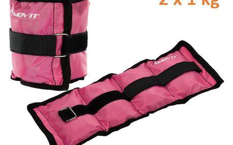 MOVIT 31947 zátěžové manžety 2x 1,0 kg růžová