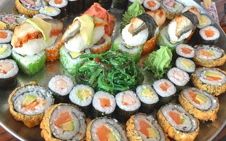 Sushi sety: 24–52 ks s lososem i vegetariánské